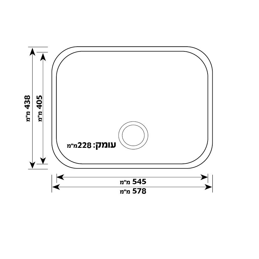 כיור מטבח עשוי נירוסטה דגם Bentex (60)