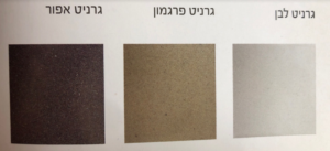 כיור גרניט - צבעים לבחירה