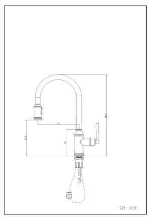 ברז יוקרה -דגם LASSI ארוך דלוקס